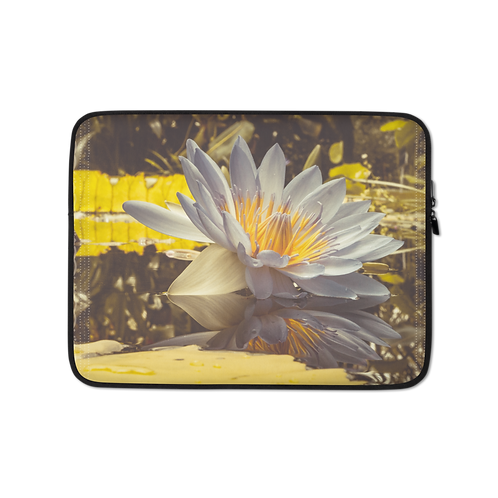 Namaste Lotus Flower Laptop Sleeve