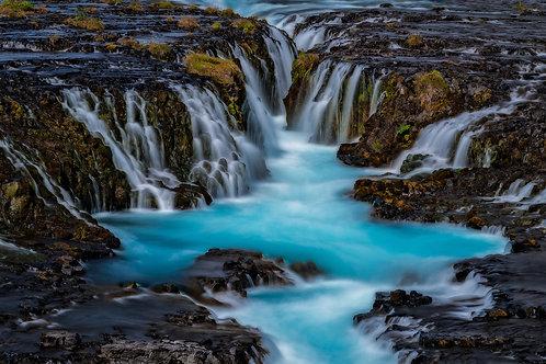Bruarfoss Waterfall, Iceland | Vivid Metal Print