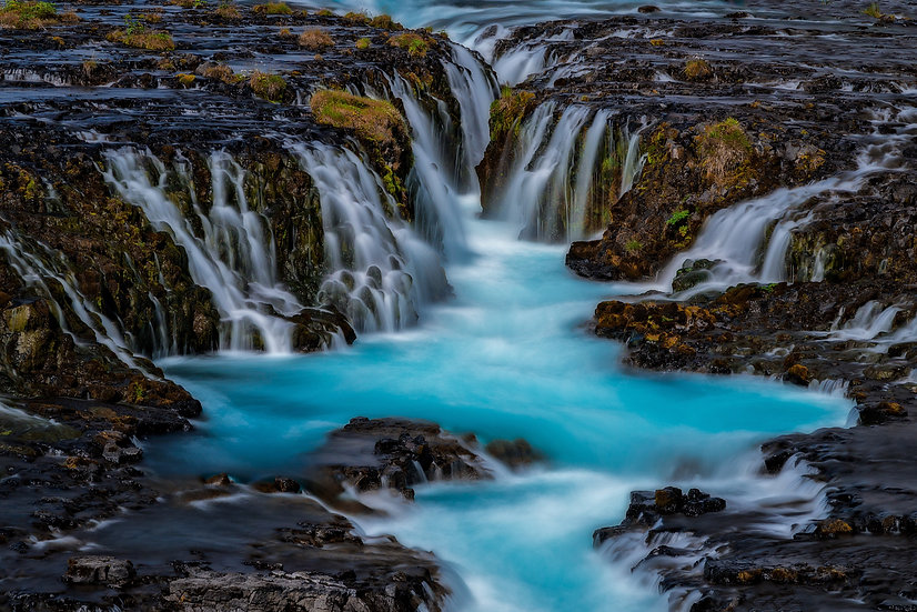 Bruarfoss Waterfall, Iceland | Vivid Metal Print | From $99