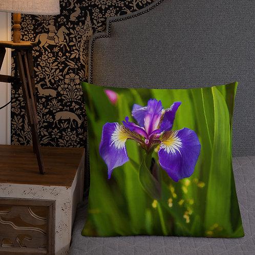Iris Morning-Alaska Throw Pillow by Robert Arrington