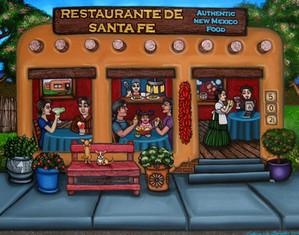 Restaurante de Santa Fe by Victoria De A