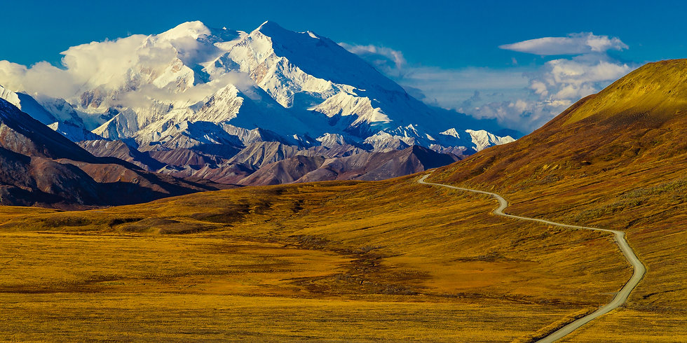 Denali-Glory Road | Metal Aluminum Print | From $99