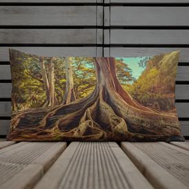 Jurassic Trees-Hawaii Throw Pillow