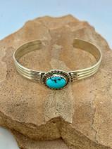 "7"" Navajo Turquoise Bracelet by Christine Toledo - $55"