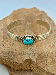 Navajo Turquoise Bracelet by Christine Toledo - $55