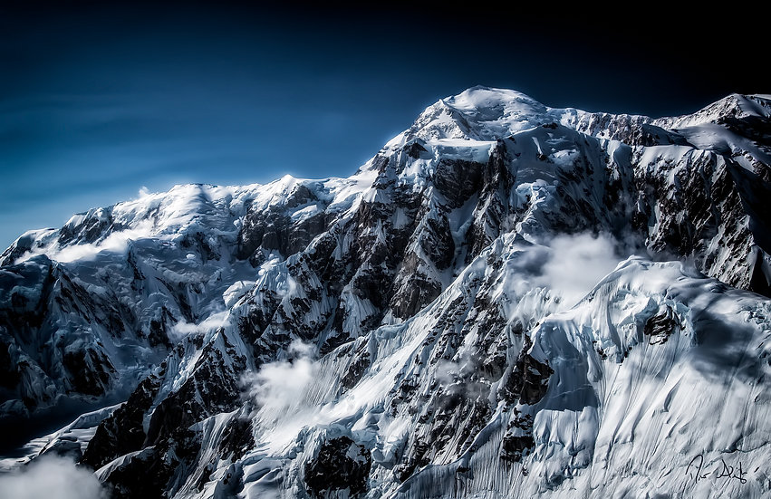 Denali: Approaching the Summit | Vivid Metal Print | From $99