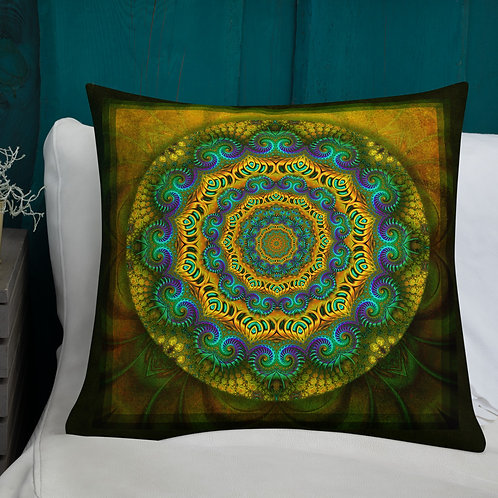 Mandala of Compassion Fractal Throw Pillow by Robert Arrington