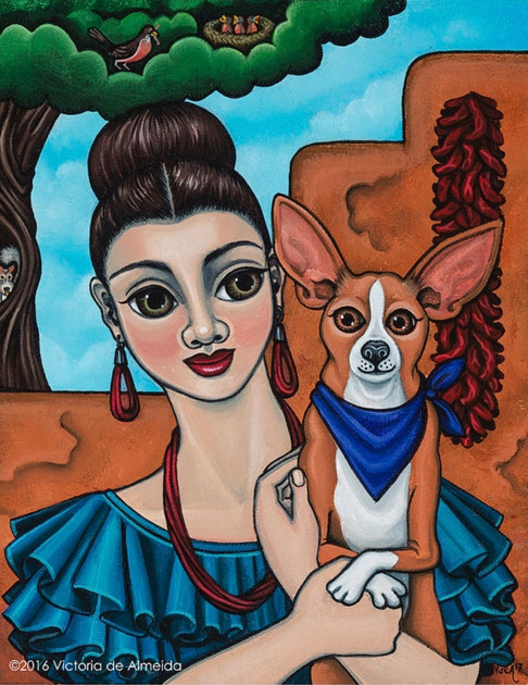 Girl Holding Chihuahua