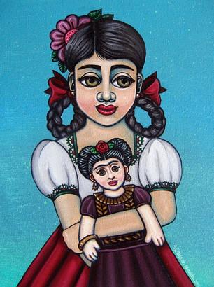 Frida Kahlo-Missy Holding Frida
