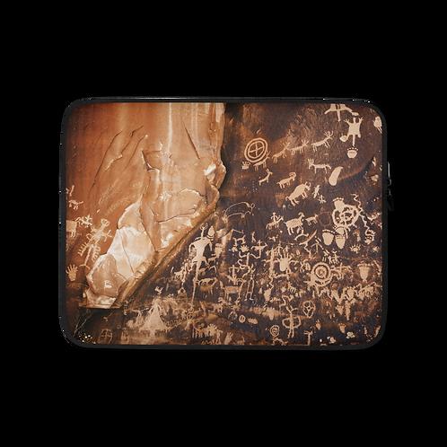 Newspaper Rock Petroglyph Laptop Sleeve