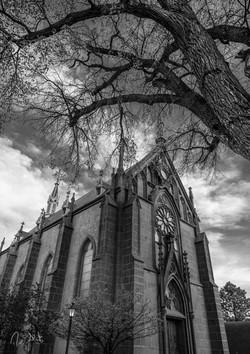Loretto Chapel Photo on Metal