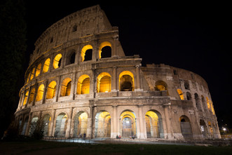 Evening at the Coliseo