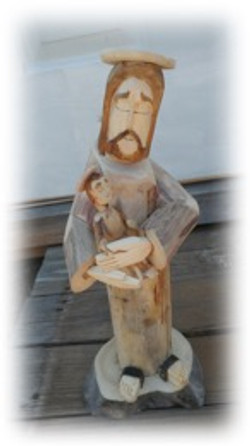 Angelo's Christ Carving