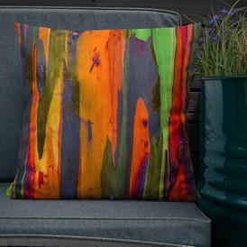 Rainbow Eucalyptus-Hawaii Throw Pillow