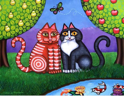Cat and Koi Pond