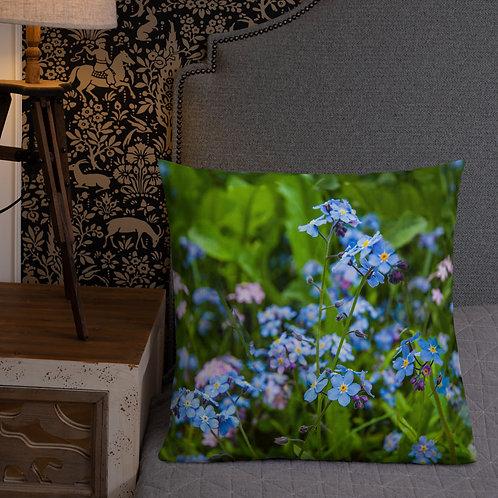 Forget Me Nots-Alaska Throw Pillow by Robert Arrington