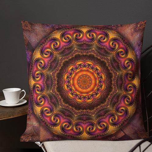 Mandala of the Divine Fractal Throw Pillow by Robert Arrington
