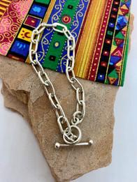 Cochiti Pueblo Sterling Silver Chain by Lambert Eustace - $85