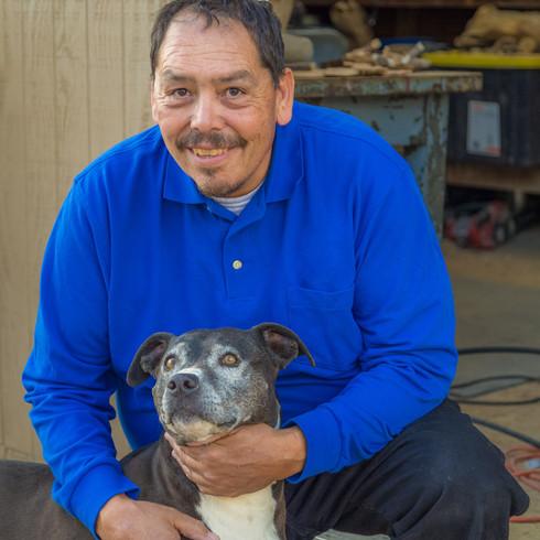 Pete with Best Friend Maya