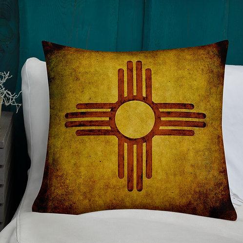 New Mexico Zia-Premium Pillow by Robert Arrington