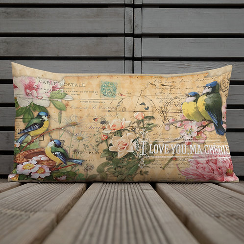 Ma Cherie Retro Collage Throw Pillow 12X20 Inches