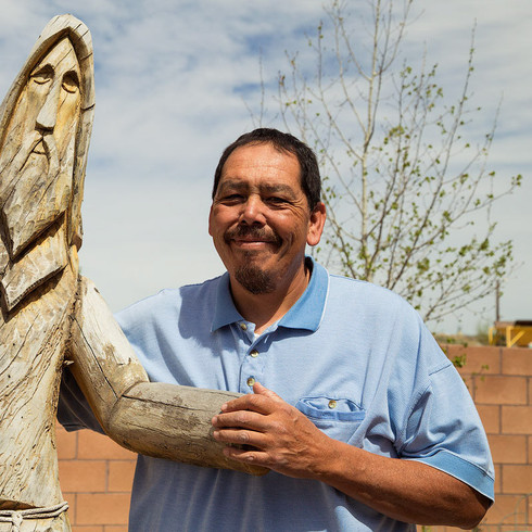 Pete with a St. Francis Carving