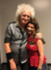 Victoria De Almeida and Brian May of Roc