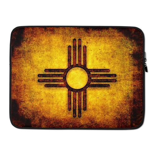 New Mexico Adobe Red Zia Laptop Sleeve