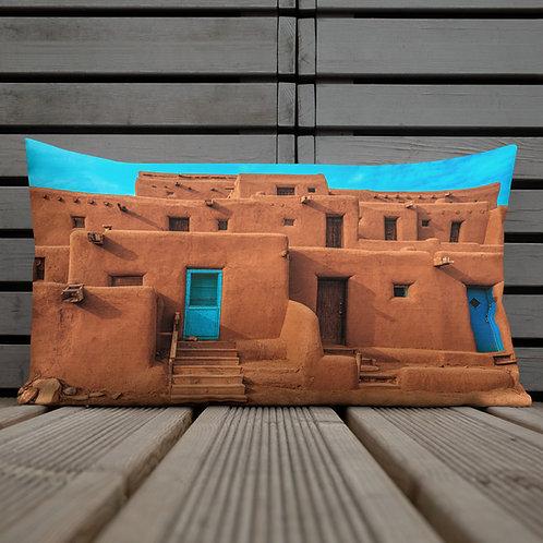 Taos Pueblo New Mexico Throw Pillow by Robert Arrington