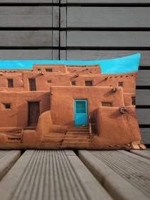 Taos Pueblo Lumbar Pillow by Robert Arrington