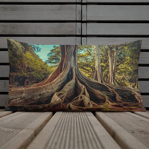 Jurassic Trees-Hawaii Throw Pillow by Robert Arrington