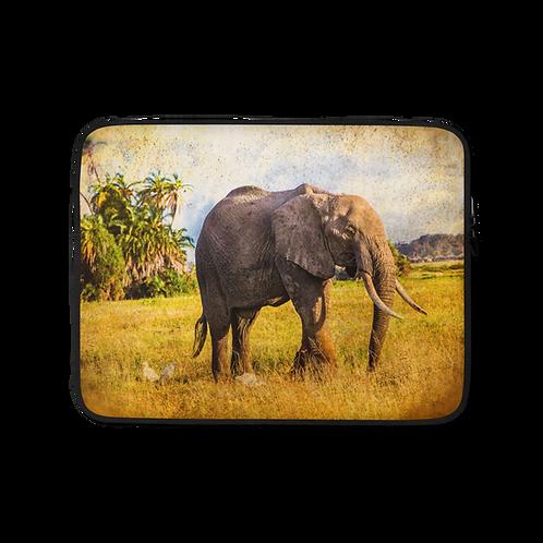 Elephant Love-African Elephant Laptop Sleeve