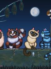 El Chisme (The Gossip) Cat Painting