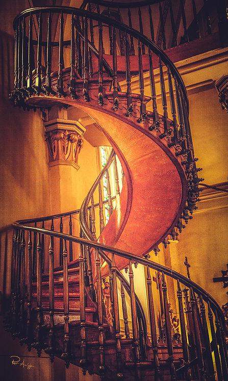 Loretto Chapel Staircase   Vivid Metal Print