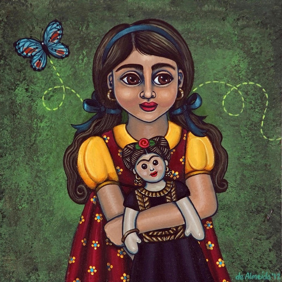 Holding Frida With Butterfly