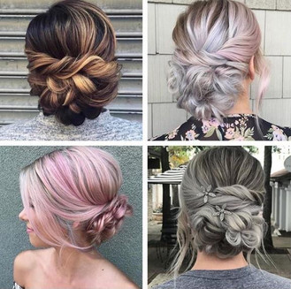 Several styles of hair color and style