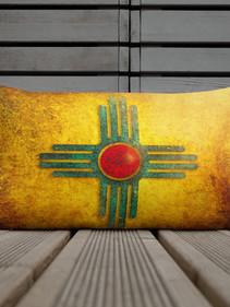 Zia Sun Lumbar Pillow by Robert Arrington