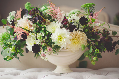 Pedestal Bowl Flower Arrangement