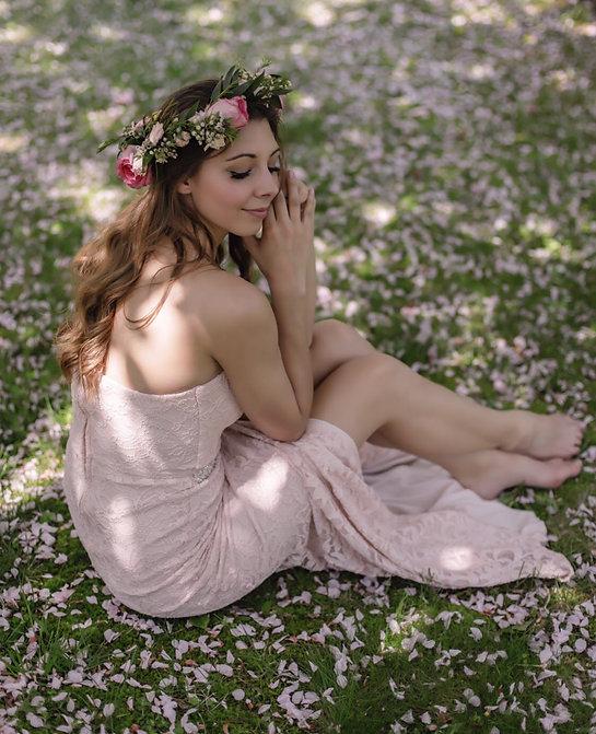 Franee pink flowers sitting down.jpeg
