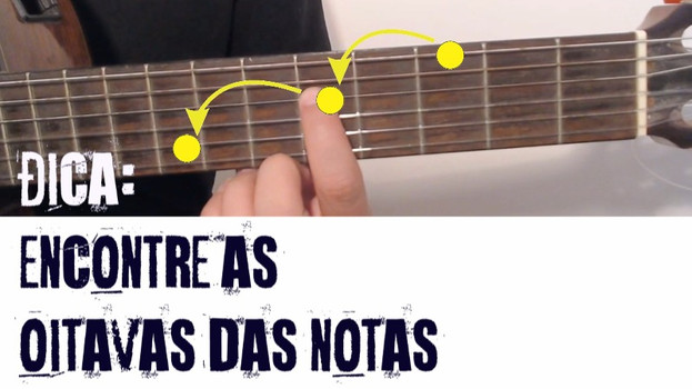 Ache as oitavas no violão