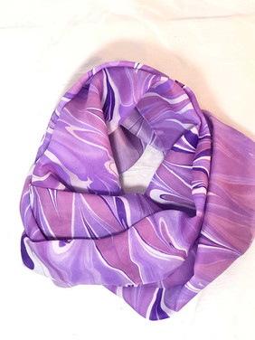 Purple Water Marbled Scarf