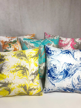 Water Marbled Pillow Covers
