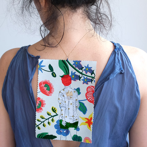 hand-embroidered necklace