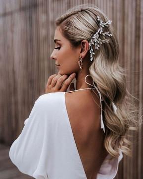 Charming Bridal #Hairstyles Elegant #Wed