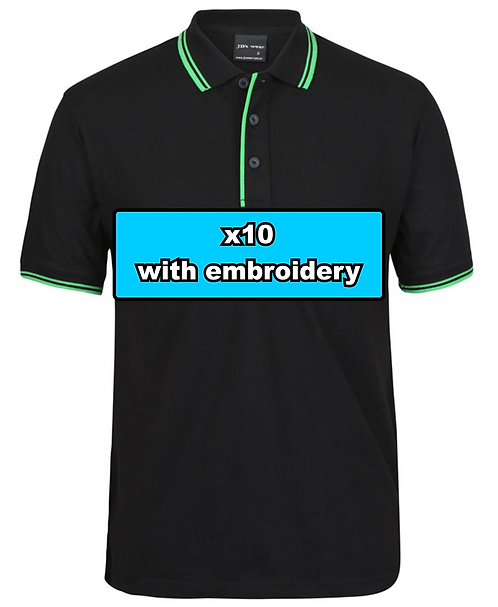 10x MEN'S CONTRAST POLO with embroidery