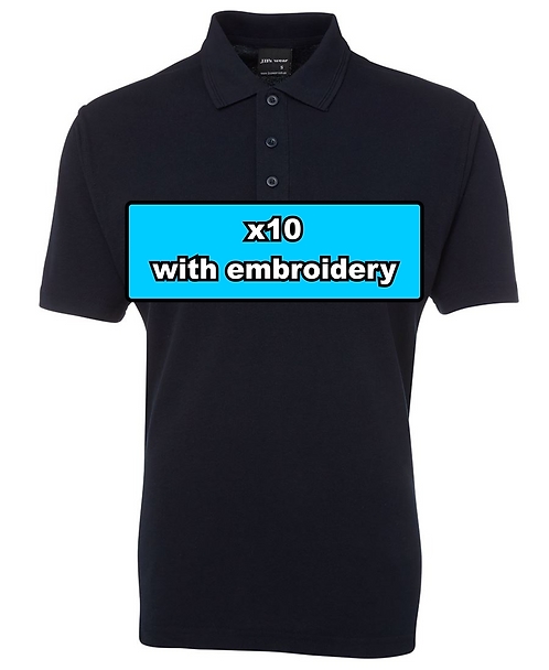 10x MEN'S 210 POLO with embroidery