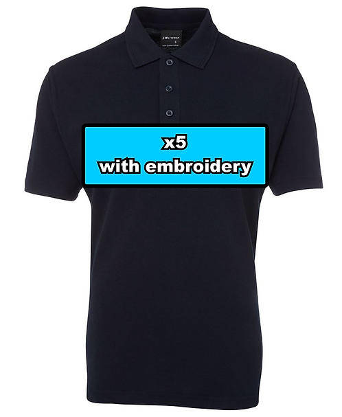 5x MEN'S 210 POLO with embroidery