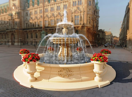 Классический фонтан, фонтан из искусственного камня, фонтан, строительство фонтана, проектирование фонтана, строительство фонтана