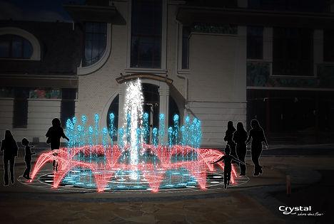 роектирование пешеходного фонтана, оборудование для пешеходного фонтана купить, строительство пешеходного фонтана