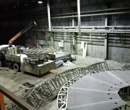 Подъёмный стол для цирка танцующих фонтанов